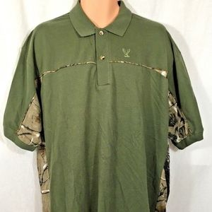 Buck Wear S/S Camouflage 2 Button Polo NWOT